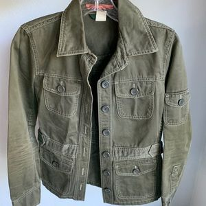 JCrew olive green jacket
